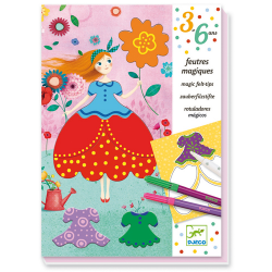 Djeco - Magic felt-tips - Marie's pretty dresses