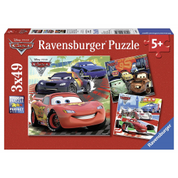Ravensburger Puzzle 3X49 pcs - Disney Cars: Worldwide Racing Fun