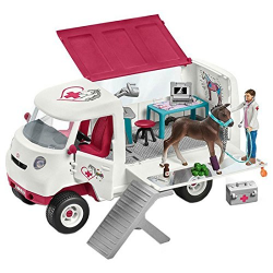 Schleich - Mobile vet with Hanoverian foal