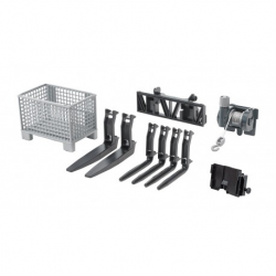 Bruder  Box-type pallet, winch and forks for frontloader
