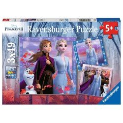 Ravensburger Puzzle 3X49 pcs Disney Frozen 2 - The...