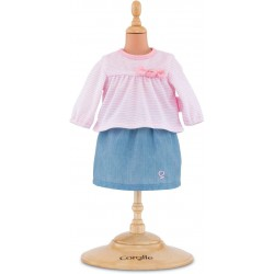 Corolle Top & skirt for 12-inch baby doll
