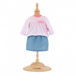 Corolle top & skirt for 14-inch baby doll