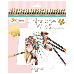 Avenue Mandarine Colouring book Wild 2