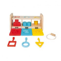 Janod Shape Sorter with Keys
