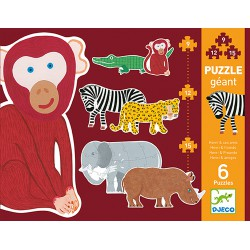 Djeco Giant puzzle 9, 12, 15 pcs Henri & friends