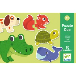 Djeco 10 Puzzles of 2 pcs duo Animals