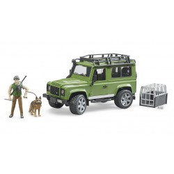 Bruder Land Rover Defender with forest ranger and dog