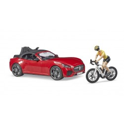 Bruder BRUDER roadster with racing bicycle and cyclist