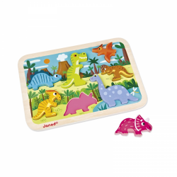 Janod Dinosaurs Chunky Wooden Puzzle (7 pcs)