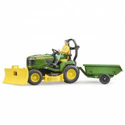 Bruder John Deere X949 Lawn Tractor With Trailer And...