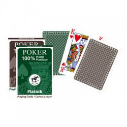 Piatnik Card Game 100% Plastic, Poker Size