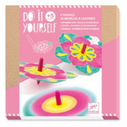Djeco DIY Spinning tops Flowers