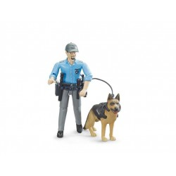 Bruder bworld police officer with dog