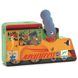 Djeco Puzzle Silhouette 16 pcs  The locomotive