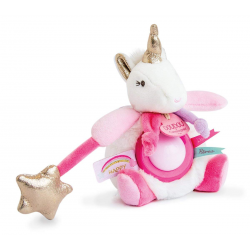 Doudou et Cie Pink Unicorne Nightlight 20 cm