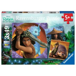 Ravensburger Puzzle 3x49 Raya & the Last Dragon