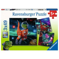 Ravensburger Puzzle 3x49 pcs Dinosaurs in space
