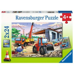 Ravensburger Puzzle 2x24 pcs Contruction and Cars