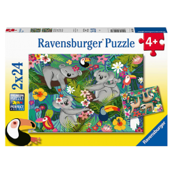 Ravensburger Puzzle 2x24 pcs Koalas and Sloths