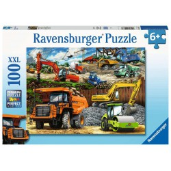 Ravensburger Puzzle 100 pcs XXL Construction Vehicles