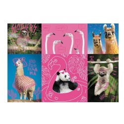 Trefl Puzzle Neon Color 1000 pcs Crazy Pets