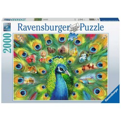 Ravensburger Puzzle 2000 pcs Land of the Peacock