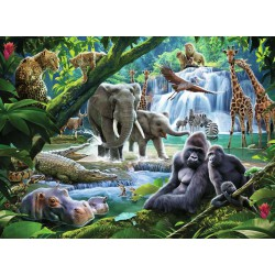 Ravensburger Puzzle 100 pcs XXL Jungle Families