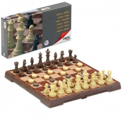 Magnetic Chess and Draught Set