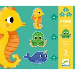 Djeco Primo Puzzle In the Sea 4,6,9 pcs