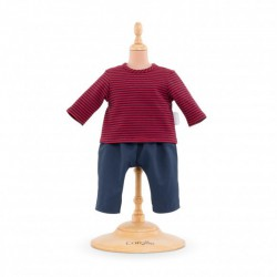 Corolle 14'' Pants and Striped T-Shirt