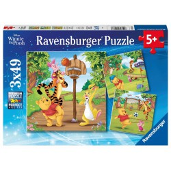 Ravensburger Puzzle 3X49 Disney Winnie the Pooh Sports Day