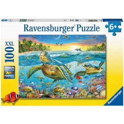 Ravensburger Puzzle 100 pc XXL Swim with Sea Turtles