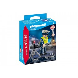 Playmobil Police Officer with Speed Trap