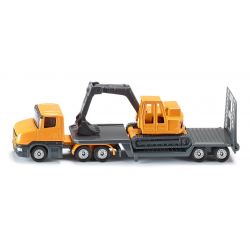 Siku Miniature Low Loader with Excavator
