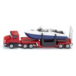 Siku Miniature Low loader with Boat