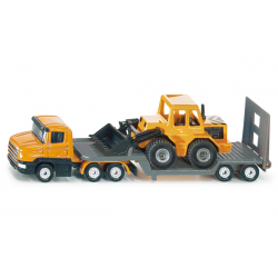 Siku Miniature Low Loader with Front Loader Truck