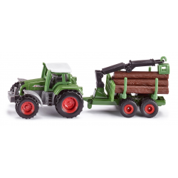Siku Miniature Tractor with Forestry Trailer