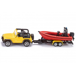 Siku Miniature Jeep with Boat