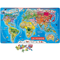 Magnetic World Puzzle (French Version)