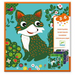 Djeco Scratch cards - Country creatures