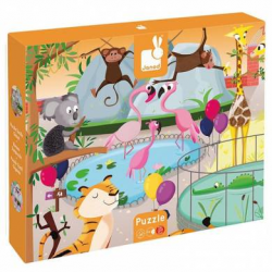 "Janod Tactile Puzzle ""A day at the Zoo"" 20 pcs"