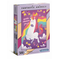 Clementoni Puzzle 500 pcs Fantastic Animals - Unicorns