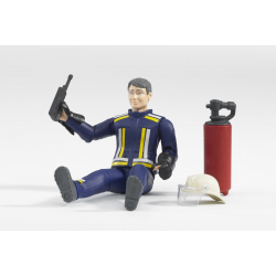 Bruder - Fireman with accessories