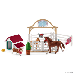 Schleich - Horse Club Hannah's guest horses with Ruby the dog