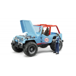 Bruder Jeep Cross Country Racer blue with racing driver