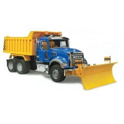 MACK Granite Dump Truck with Snow Plow Blade