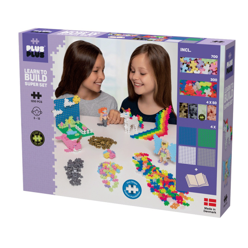 Plus Plus Learn to Build - Mega Set 1200 Pastel