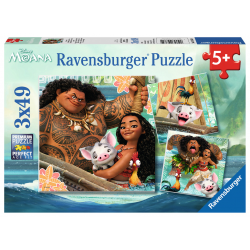 Ravensburger Puzzle 3X49 pcs - Moana Born to Voyage
