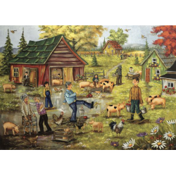 Trefl Puzzle 1000 pcs Christine Genest - Little pigs' dance